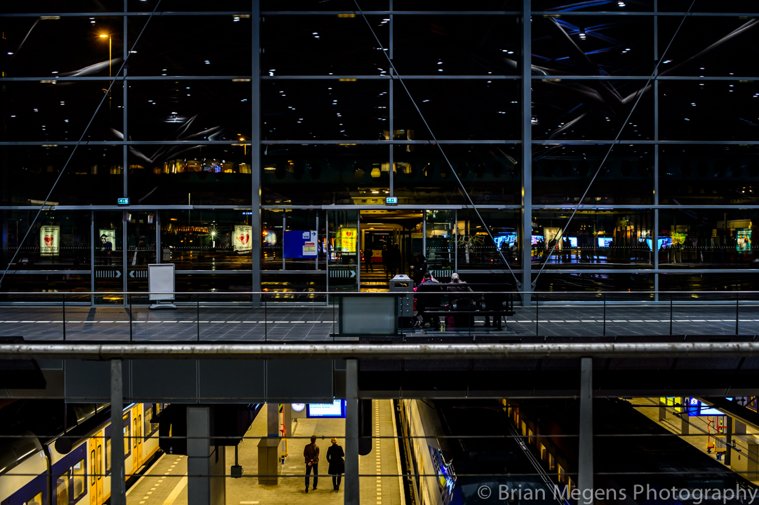 The Hague Central Station by Night