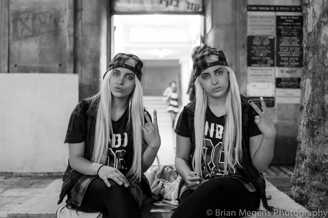 Hello, kisses and f*ck you from these blond twins in Jerusalem