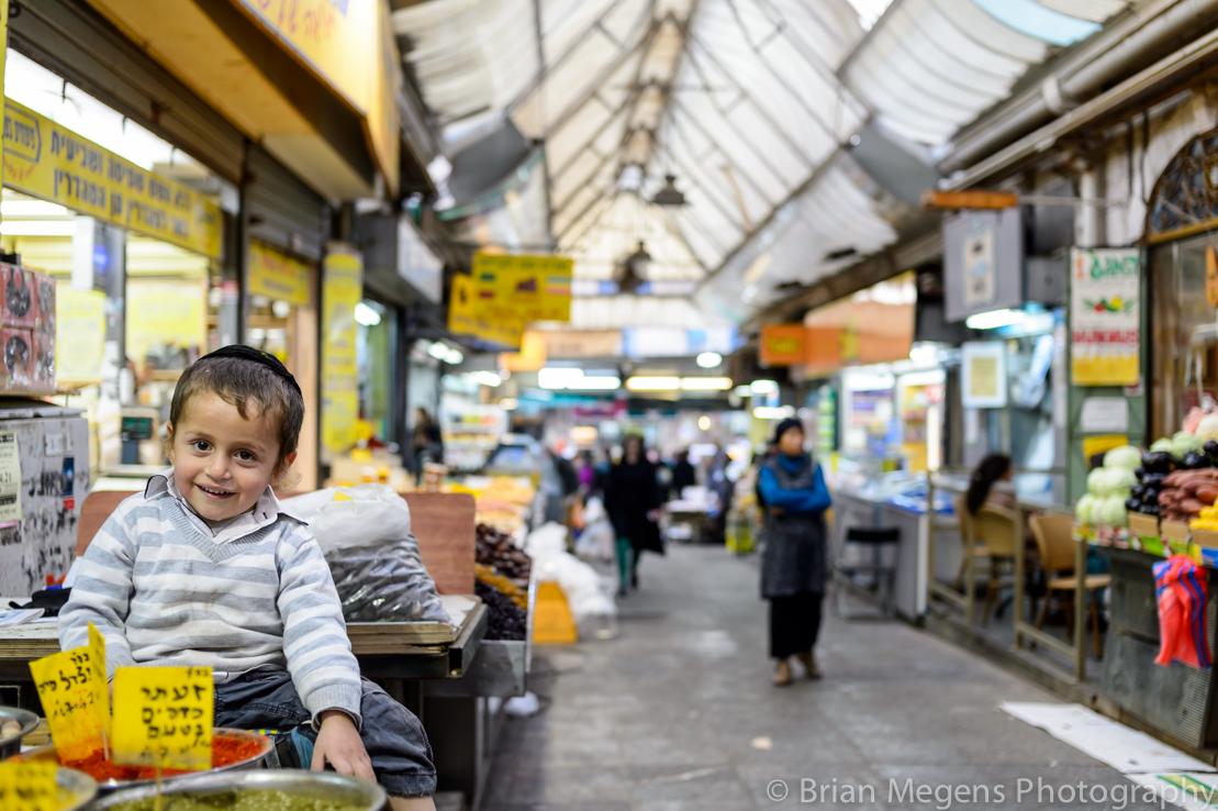 Jewish kid on the Jewish Market, Jerusalem