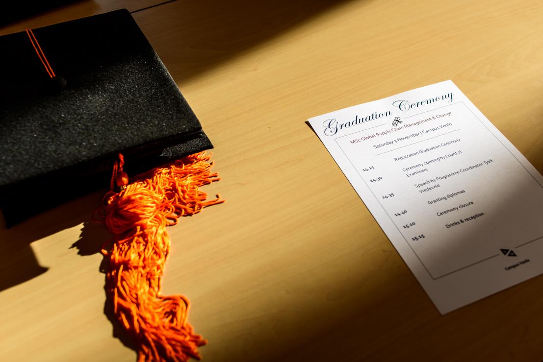 Graduation Ceremony MSc Global Supply Chain Management & Change
