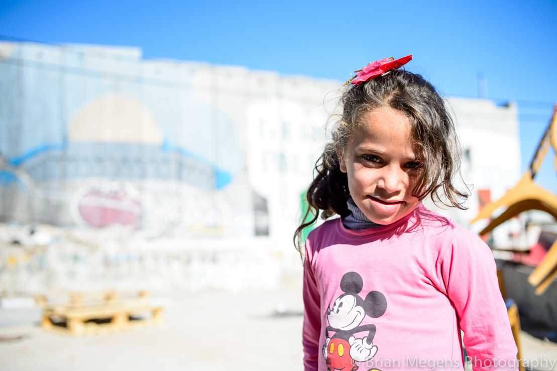 Reem 7 yrs, born and raised in Aida Camp, lives 30 meter away from the wall.